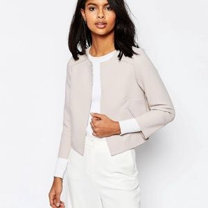 ASOS cropped raw edge blazer